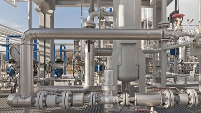 Details of natural gas processing equipment in an LNG plant